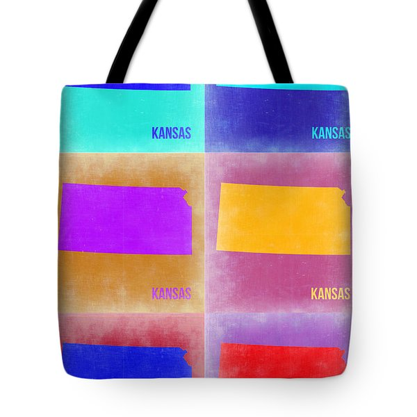 Kansas Pop Art Map 4 Tote Bag