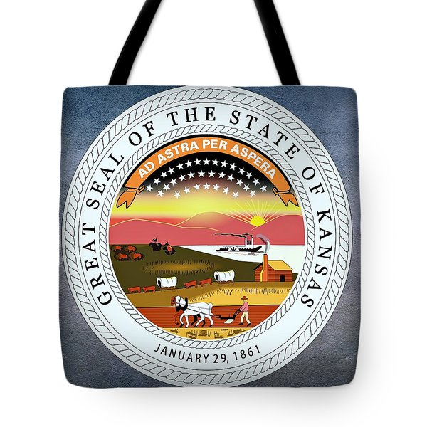 Kansas State Seal Tote Bag by Movie Poster Prints