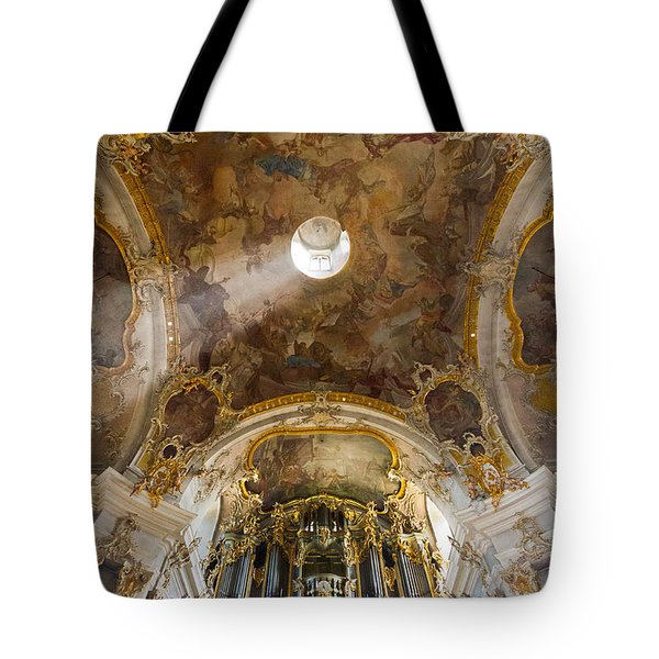 Kappele Wurzburg Organ And Ceiling Tote Bag