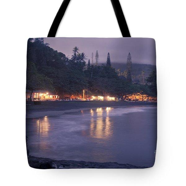 Kapueokahi - Hana Bay - Sunset Hana Maui Hawaii Tote Bag by Sharon Mau