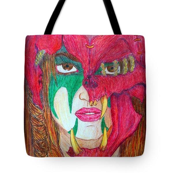Kara's Battle Helm Tote Bag by Justin Moore