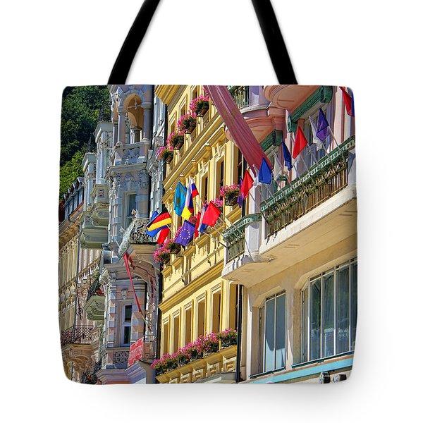 Karlovy Vary Tote Bag by Mariola Bitner
