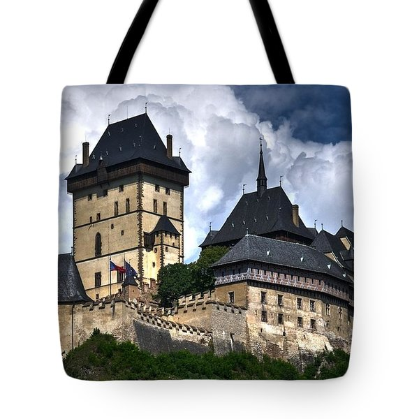 Tote Bag featuring the photograph Karlstejn Castle In Prague 2 by Joe  Ng