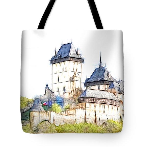 Karlstejn - Famous Gothic Castle Tote Bag by Michal Boubin