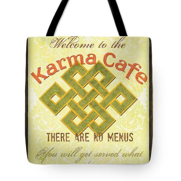 Karma Cafe Tote Bag by Debbie DeWitt