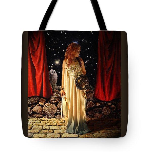 Kat As Athena  Tote Bag