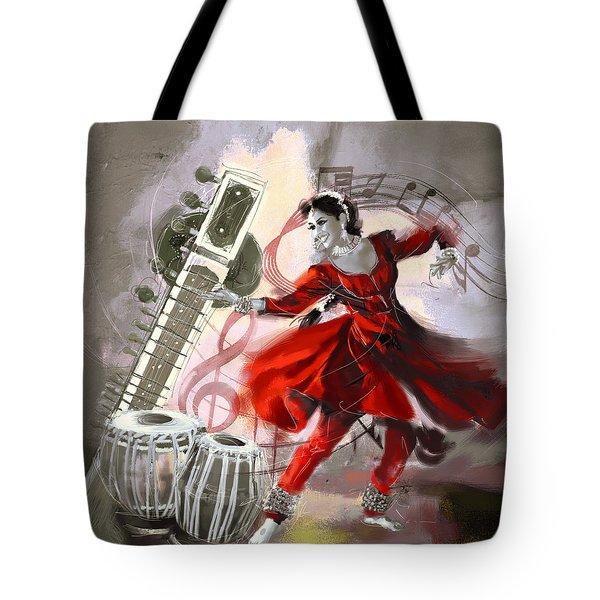 Kathak Dancer 1 Tote Bag