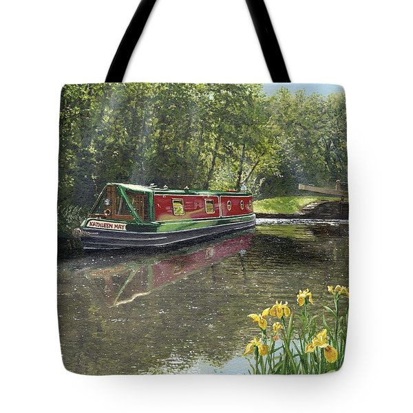 Kathleen May Chesterfield Canal Nottinghamshire Tote Bag by Richard Harpum