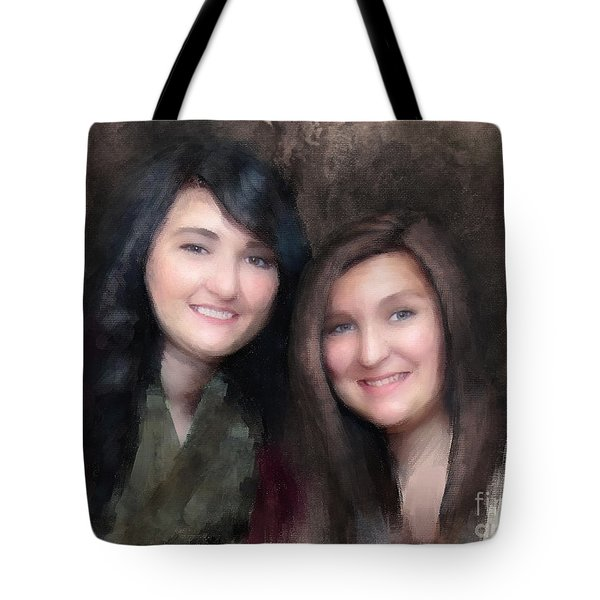 Katie And Sara Tote Bag