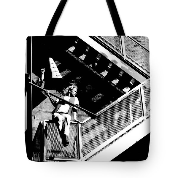 Katie-fire Escape Tote Bag by Gary Gingrich Galleries