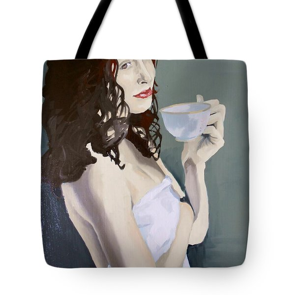Katie - Morning Cup Of Tea Tote Bag