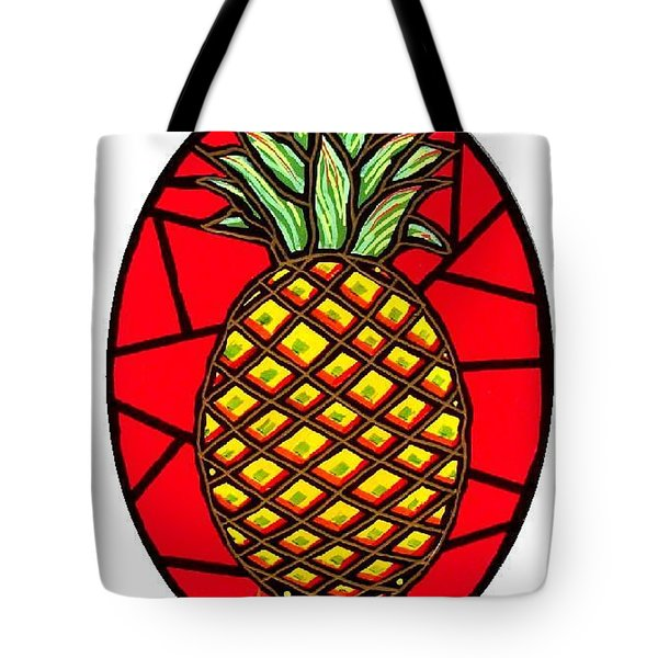 Katies Pineapple Tote Bag