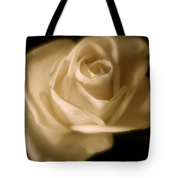 Katie's White Rose Tote Bag