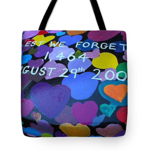 Katrina Casket Memorial Inscription Tote Bag