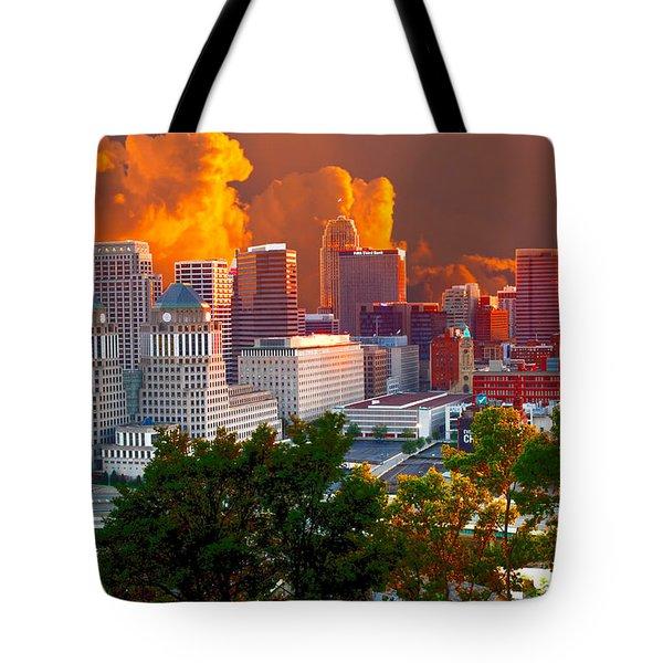 Katrina Storm Hits Cincinnati Tote Bag