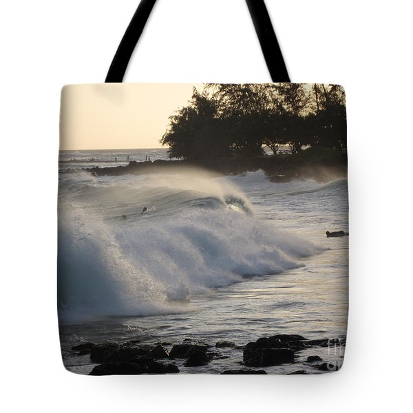 Kauai - Brenecke Beach Surf Tote Bag by HEVi FineArt