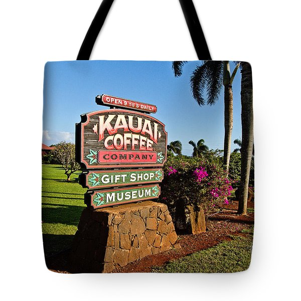 Kauai Coffee Tote Bag by Scott Pellegrin