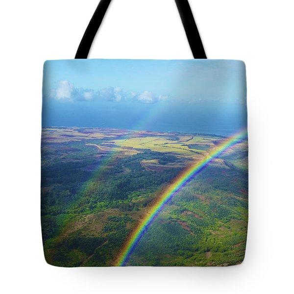 Kauai Double Rainbow Tote Bag by Kicka Witte