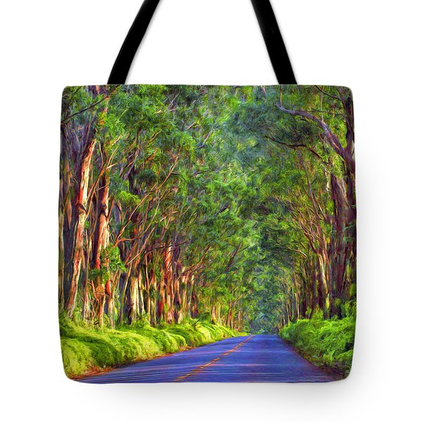 Kauai Tree Tunnel Tote Bag
