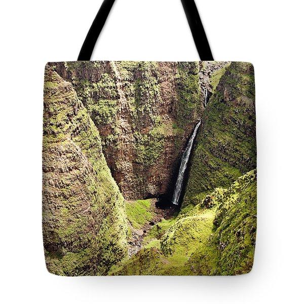 Kauai Waterfall Tote Bag by Scott Pellegrin