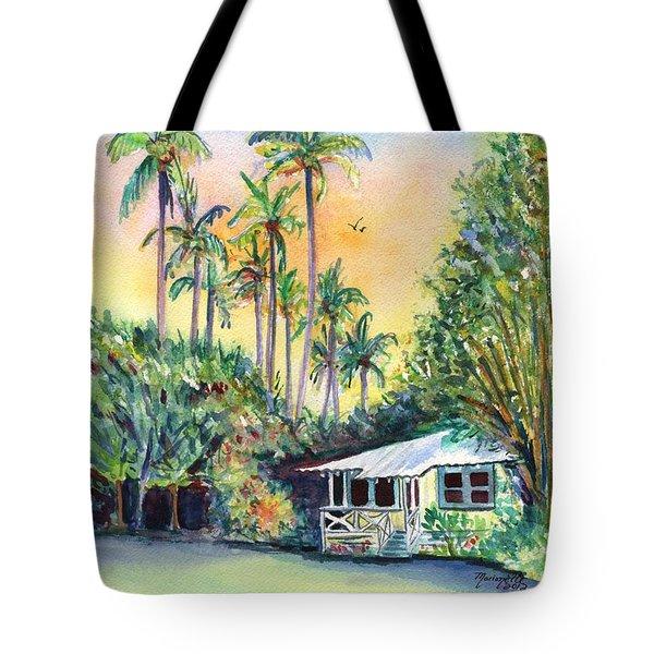 Kauai West Side Cottage Tote Bag by Marionette Taboniar