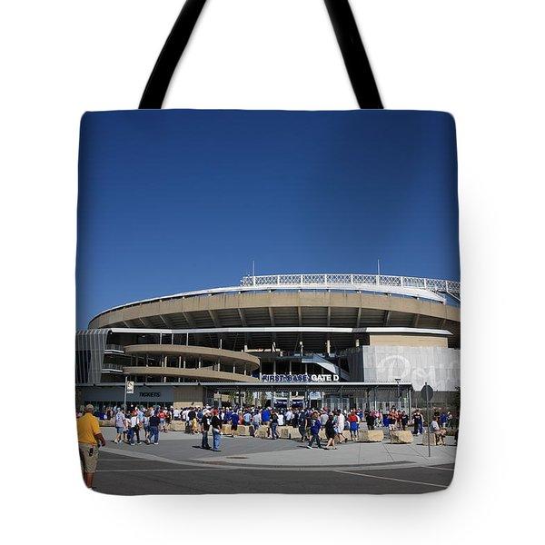 Kauffman Stadium - Kansas City Royals Tote Bag by Frank Romeo