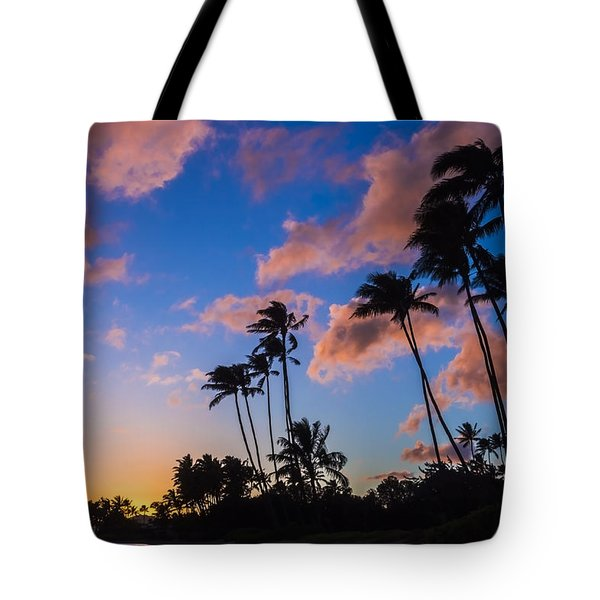 Tote Bag featuring the photograph Kawakui Sunset 3 by Leigh Anne Meeks