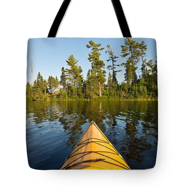 Kayak Adventure Bwca Tote Bag by Steve Gadomski