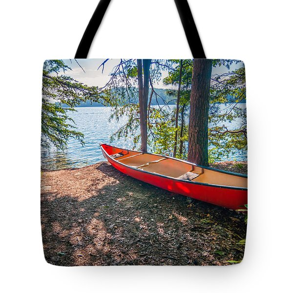 Kayak By The Water Tote Bag