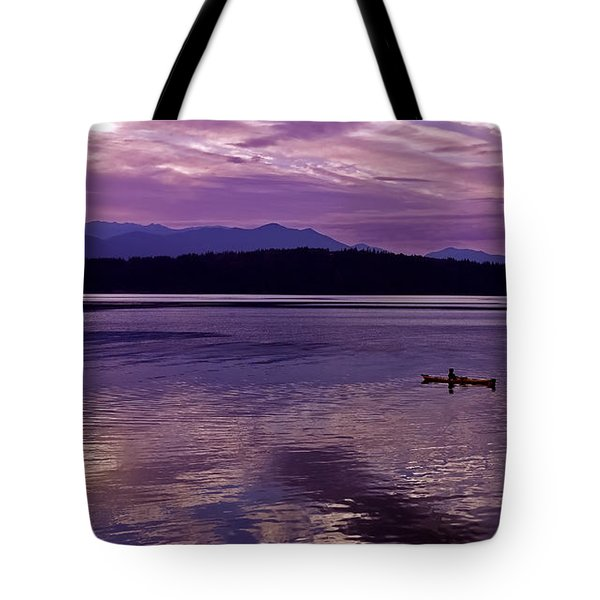 Tote Bag featuring the photograph Kayak On Dabob Bay by Greg Reed