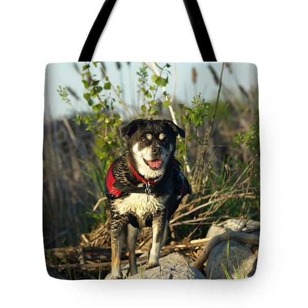 Tote Bag featuring the photograph Kayaker's Best Friend by James Peterson