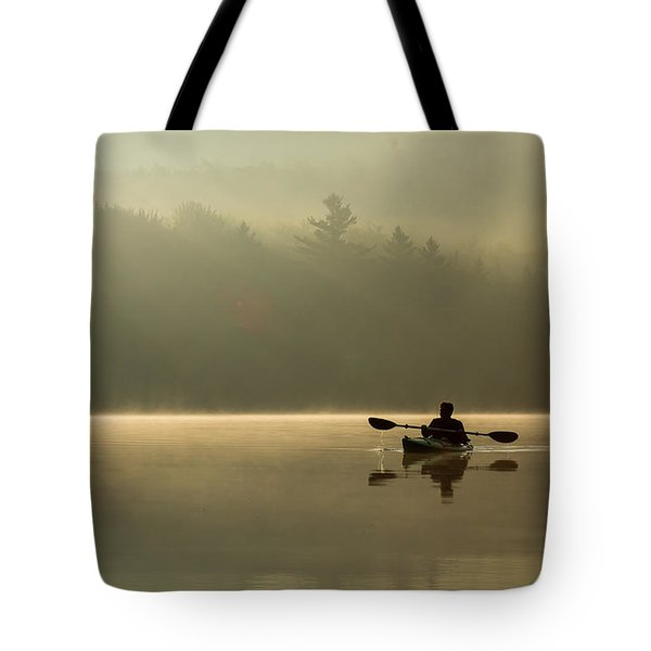 Kayaking At Sunup Tote Bag