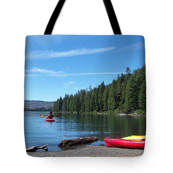 Kayaking On Suttle Lake Tote Bag