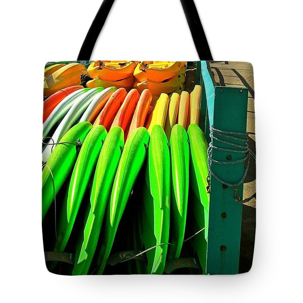 Kayaks And Paddleboards Tote Bag