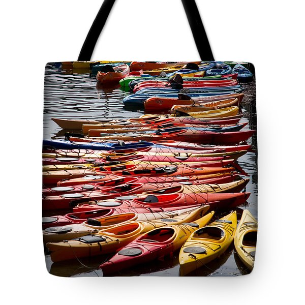 Kayaks At Rockport Tote Bag