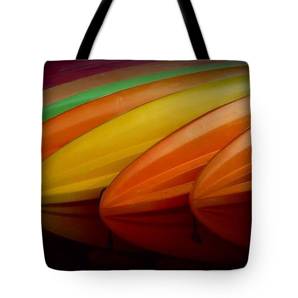 Tote Bag featuring the photograph Kayaks by Patricia Strand
