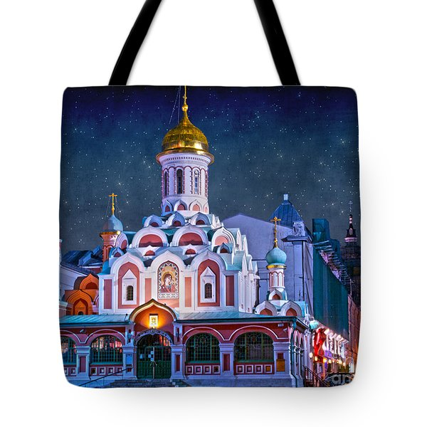 Kazan Cathedral. Red Square. Moscow Russia Tote Bag by Juli Scalzi