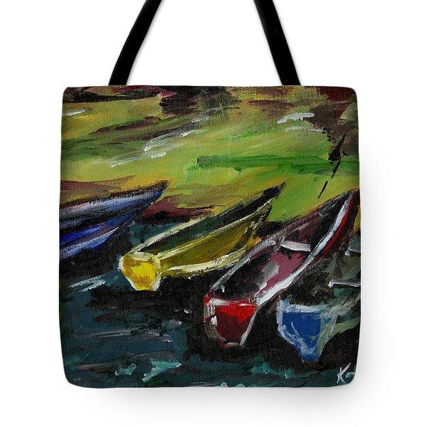 Kazinga Channel Boats Tote Bag