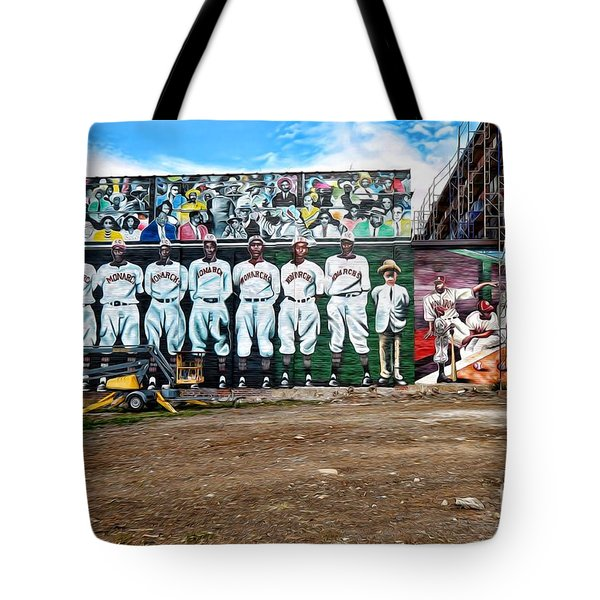 Kc Monarchs - Baseball Tote Bag by Liane Wright