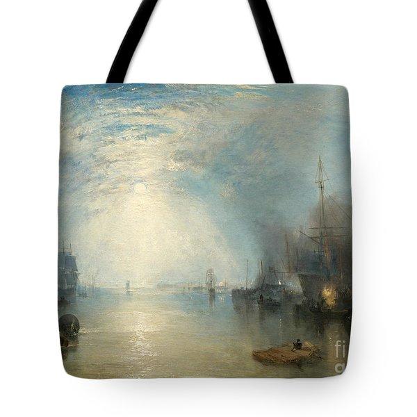 Keelmen Heaving In Coals By Moonlight Tote Bag
