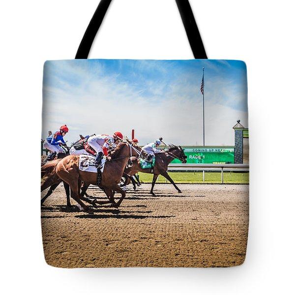 Keeneland Racing Tote Bag by Keith Allen