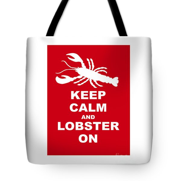Keep Clam And Lobster On Tote Bag by Julie Knapp