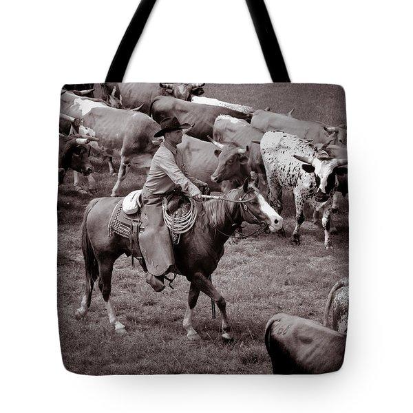Keep Em Moving Tote Bag by Toni Hopper