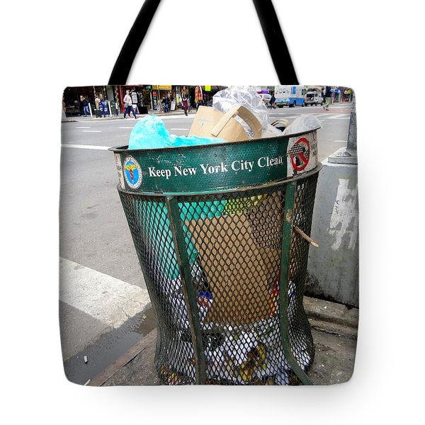 Keep Nyc Clean Tote Bag by Ed Weidman