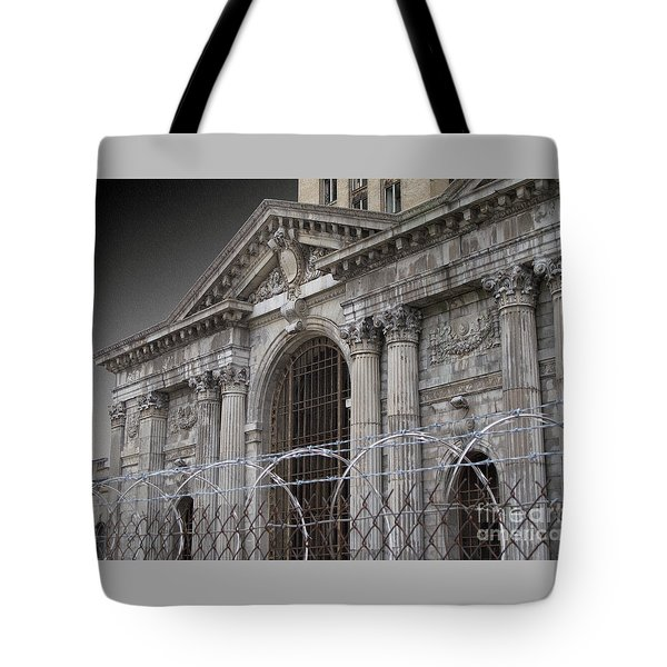 Keep Out Tote Bag by Ann Horn