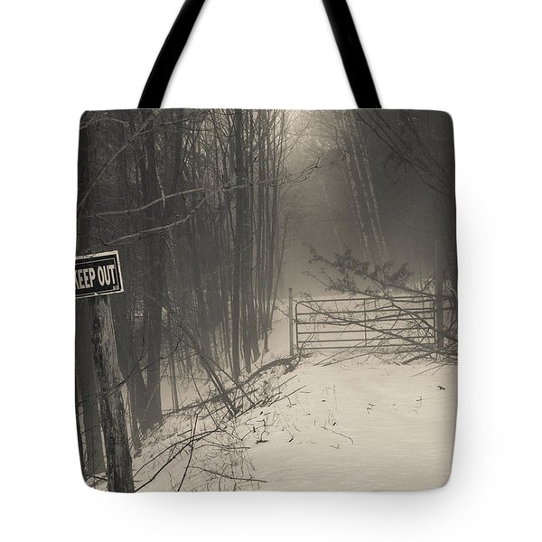 Keep Out Tote Bag by Bill Pevlor