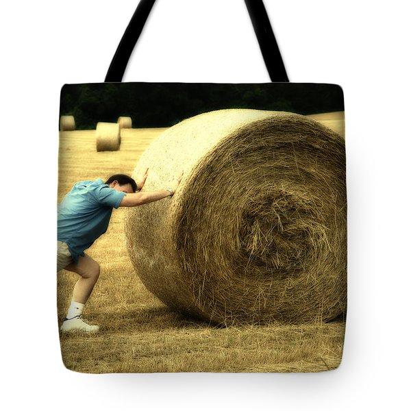 Keep Pushing Tote Bag by Karol Livote