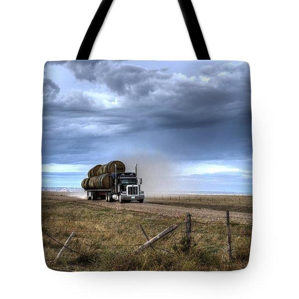 Keep Those Hay Bales Rolling Tote Bag