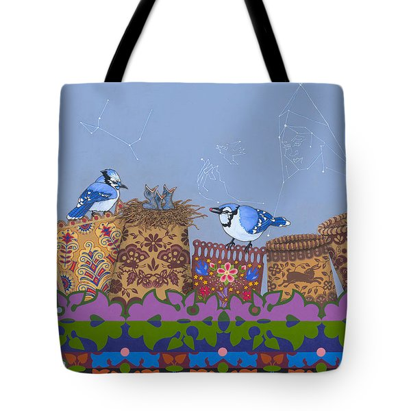 Tote Bag featuring the painting Keeper Of Songs by Chholing Taha