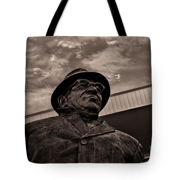 Keeping Watch Bw Tote Bag by Tommy Anderson